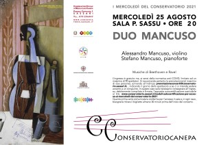 Locandina Duo Mancuso 25 agosto 2021